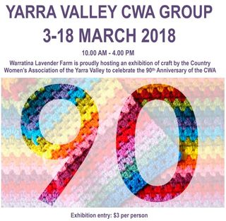 3rd  to 18th March 2018 - What's on @ Warratina Lavender Farm