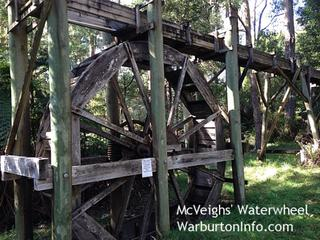 McVeigh's Waterwheel, Batts Creek Point Walk & Upper Yarra Dam