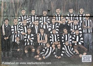 Warburton Football Club 1910 Premiers - Sponsor: Jack & Jo, Donna & Richard. History by Robin Fisher.
