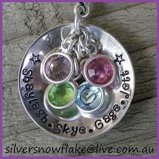 Silver Snowflake - Handmade personalised jewellery inspired by my love for family.
