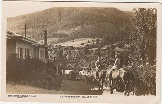 Warburton Chalet Rose Series Postcard No.3417