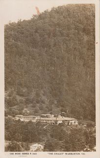 The Warburton Chalet - Rose Series Postcard 3431