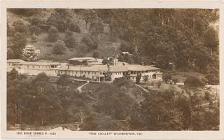 The Warburton Chalet - Rose Series Postcard 3433
