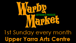 2 July 2017 - 1st Sunday month - 11am - 3pm - Warby Artisans & Produce Market