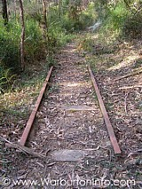 Railway lines at Richards Tramway Walk